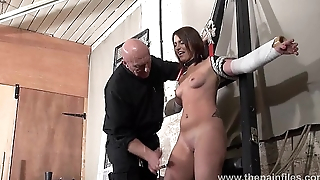 Bastinado together with amateur bdsm dungeon of private depending girl Lexy in tit tortures an